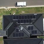 aerial view of bird control solar work