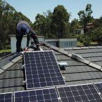 birds eye view of solar job